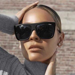 Quay OTL II Shield Sunglasses In Black Smoke Gold